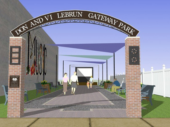 Downtown gateway for South Whitley