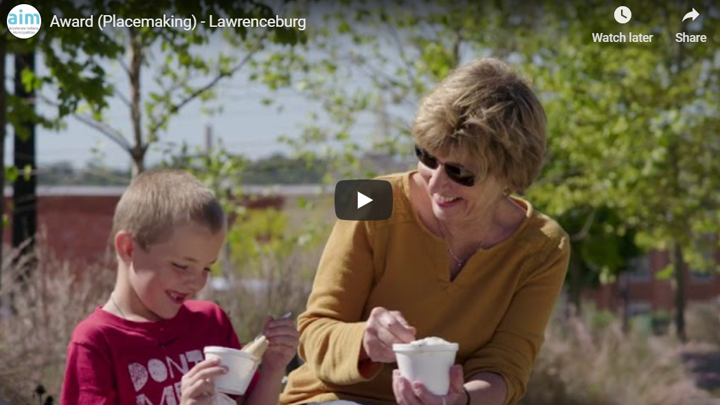 City of Lawrenceburg Awarded a 2020 Aim Community Placemaking Award